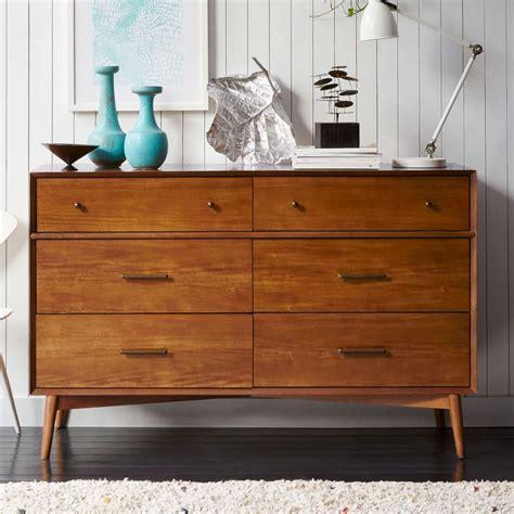 mid century chest of drawers mid century 6 drawer chest acorn west elm uk