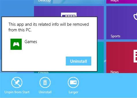 how to uninstall games on windows 8 uninstall games windows 8 1 download free apps