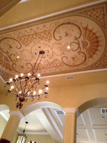 Dining Room Ceiling Murals Ceiling Mural Chandelier Dining Room Traditional