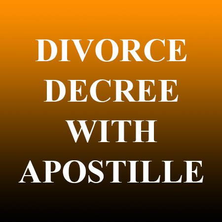 Order Divorce Records Divorce Decree With Apostille Records Nv