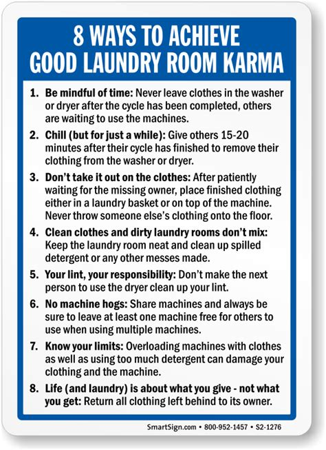 Laundry Room Etiquette Signs laundry signs laundry room signs