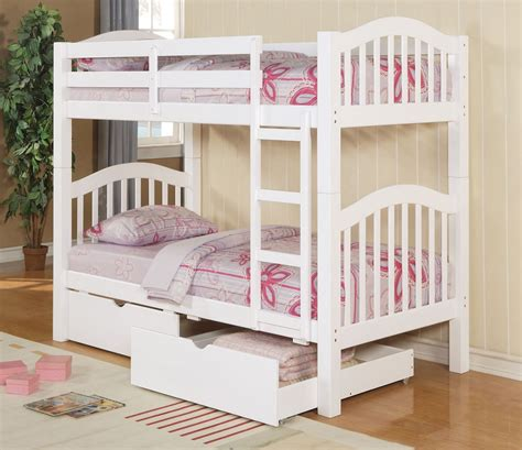 white twin bunk beds twin twin heartland white bunk bed 2 drawers
