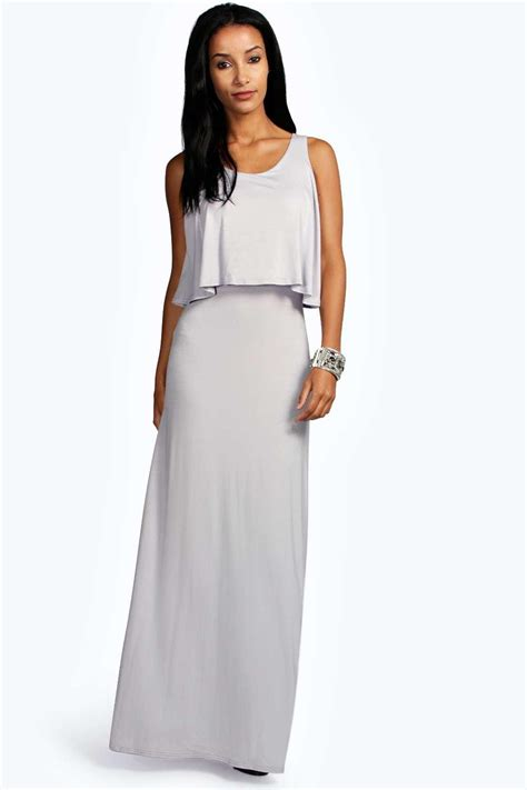 Layer Dress 1 boohoo womens layer maxi dress