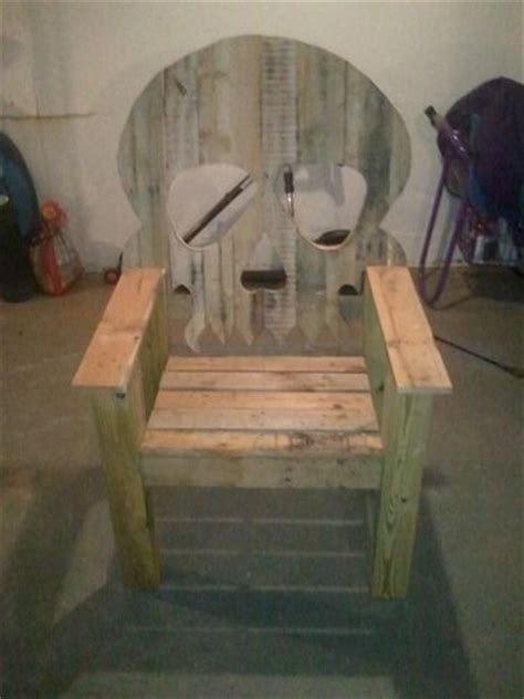 wooden skull lawn chair plans skull chairs 1 how to finish by darthmaverick