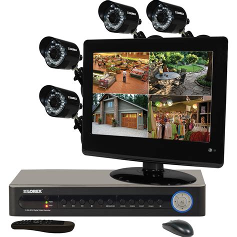 lorex by flir security system with 4 cameras
