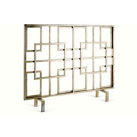 Square Fireplace Screen antique silver square fireplace screen dessau home screens