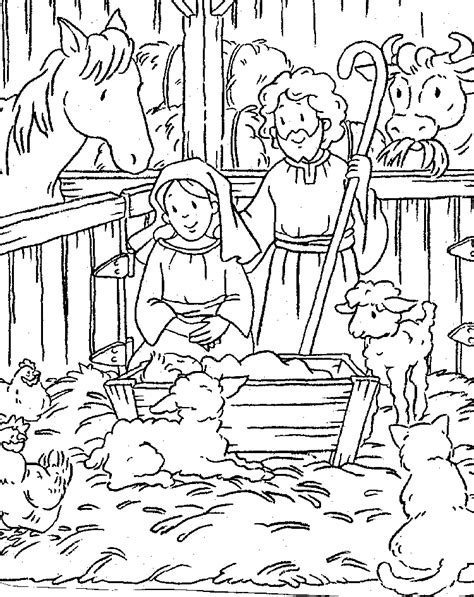 free coloring page of the nativity birth of jesus coloring pages for children free
