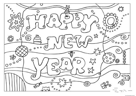 Printable Coloring Pages Happy New Year 2016free Printable Coloring Pages New Years