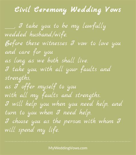 Wedding Vows For by Civil Ceremony Wedding Vows Wedding Celebrations