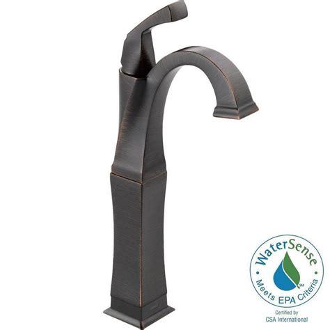 delta dryden bathroom faucet delta dryden single hole single handle vessel bathroom