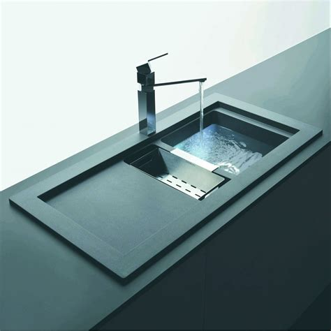 S S Sink For Kitchen Schock Domus 1 5 Bowl And Drainer 1060mm X 525mm Reversible Cristalite Inset Kitchen Sink Dom D