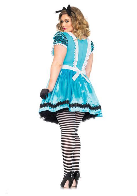 alice in wonderland halloween costume plus size and plus size looking glass alice costume
