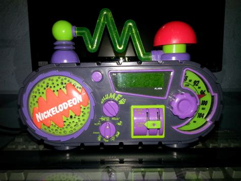 nickelodeon time blaster am fm alarm clock radio electronics