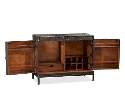 bar cabinet ludlow trunk bar cabinet pottery barn