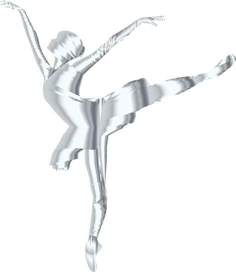 clipart silver graceful ballerina silhouette no background