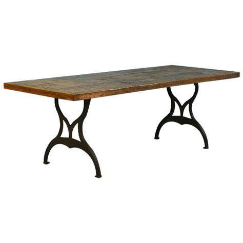 Iron Dining Table Legs Vintage Industrial Look Dining Table From Reclaimed Wood And Cast Iron Legs At 1stdibs