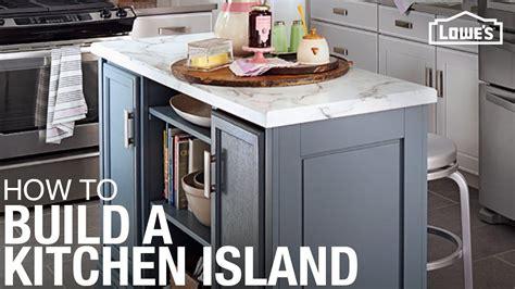build  diy kitchen island youtube