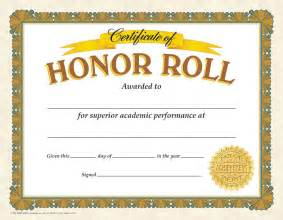 Honor Roll Certificate Templates by Certificate Of Honor Roll 30 Pk T 11307