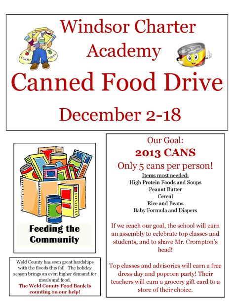 can food drive flyer template pictures to pin on