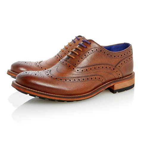 Ted Baker Belt Brogue ted baker guri 7 lace up heavy brogues in brown for lyst