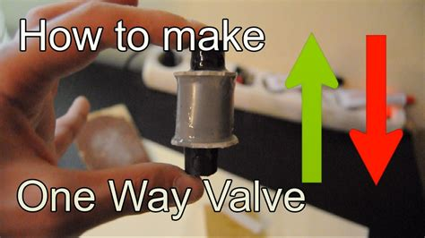 one way valve diy how to make check valve using a pvc pipe one way
