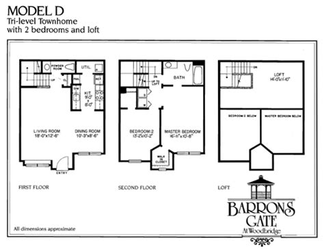 tri level house plans woodbridge 2 bedroom apartment floor plans baron s gate