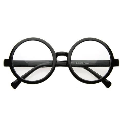 vintage inspired eyewear circle clear lens glasses