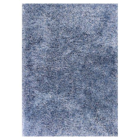 rug 3 ft kas rugs grandeur shag blue 3 ft 3 in x 5 ft 3 in area rug fia055433x53 the home depot