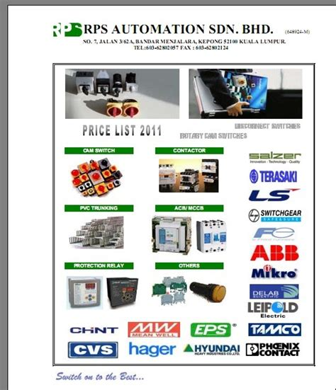 rps automation sdn bhd price list 2011