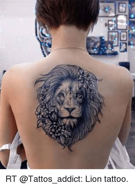 rt lion tattoo addicted meme on sizzle
