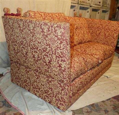 knowle settee a similar knowle settee upholstered in red and cream