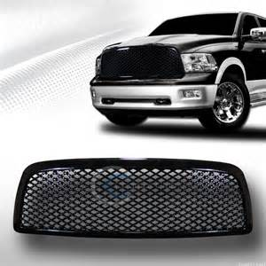 Grill For Dodge Ram 1500 Blk Badgeless Mesh Front Bumper Grill Grille 2009