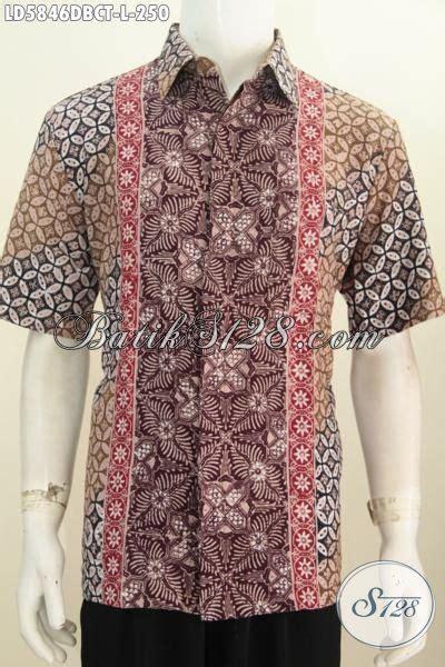 Hem Batik Dolbi hem kerja batik model lengan pendek bahan doby busana batik keren motif kombinasi proses cap