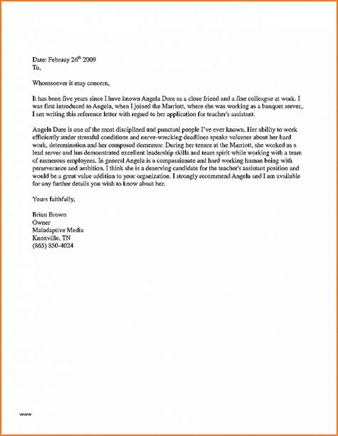 Reference Letter For Graduate School From Coworker letter of recommendation awesome sle recommendation