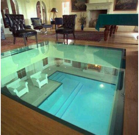 modern small pool house floor glass floor to look at the pool it home ideas glass house and