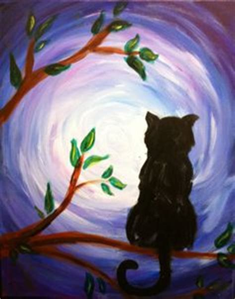 cat painting ideas for adults 1000 images about the moon in all on