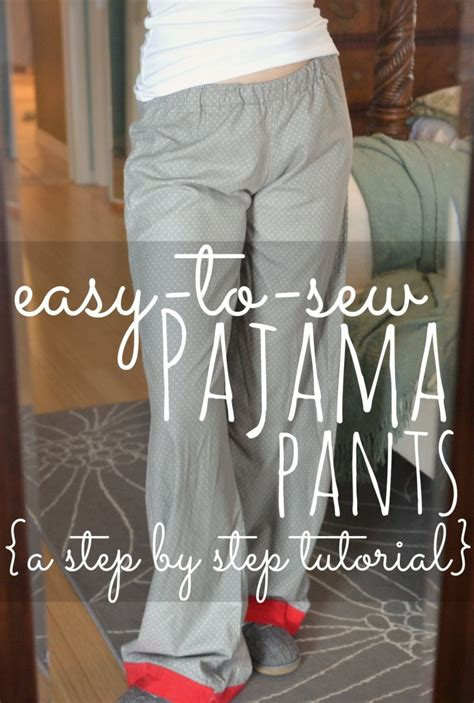 simple pattern for pants easy to sew pajama pants diy pajama pant tutorial diy