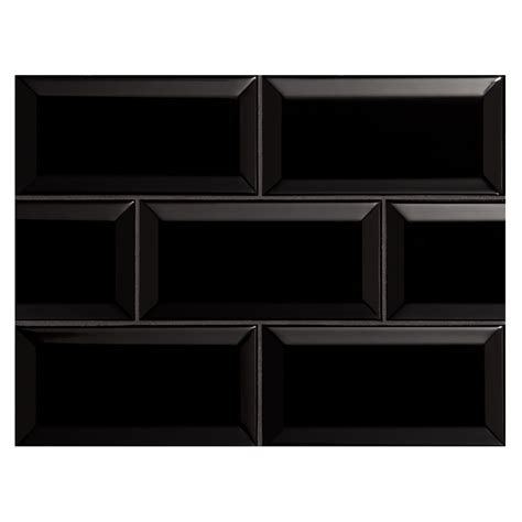 black subway tile nori ceramic collection subway tile black gloss 3 quot x 6