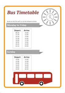 bus timetable early years role play free early years
