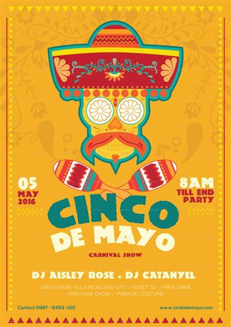 Cinco De Mayo Illustrator Flyer Template Best Flyer For Mayo Parties Cinco De Mayo Template