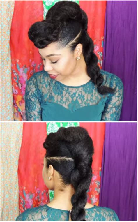 cute hairstyles with kanekalon hair natural hair style quot twist n bun quot with kanekalon hair