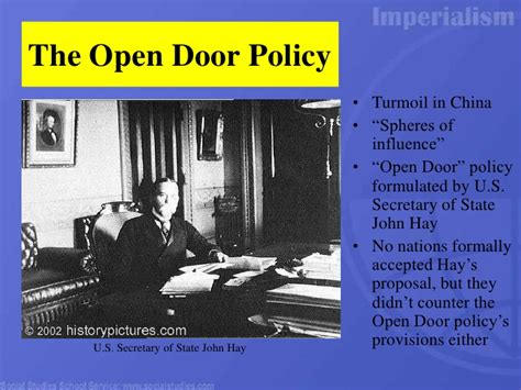 What Did The Open Door Policy Do by Imperialism Power Point