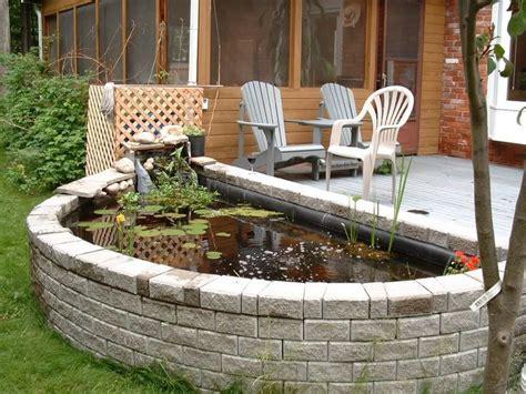 Pond Deck Designs by Above Ground Fish Ponds Above Ground Pond Vs In Ground
