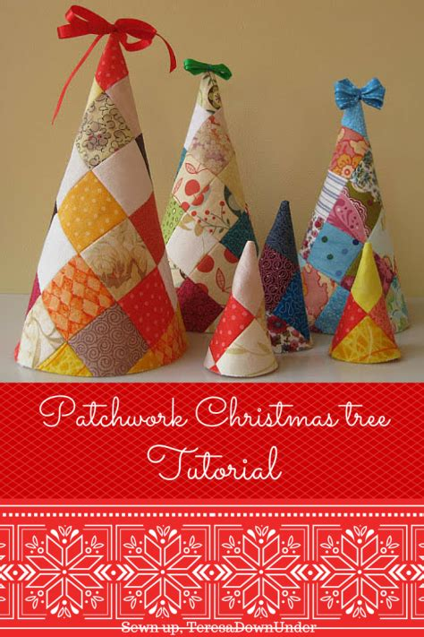Patchwork Tree Decorations - patchwork tree softie tutorial trees