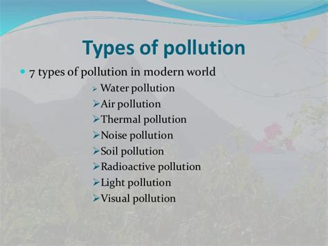 Types Of Environmental Pollution Essays by Essay On Types Of Air Pollution