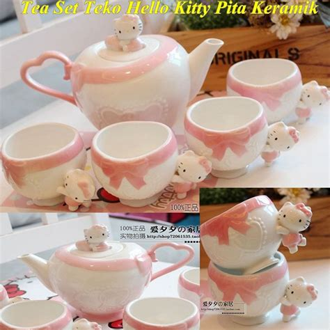 Tea Set Teko Hello Pita jual tea set teko hello pita keramik di lapak vieshop patriciaevelyn59718