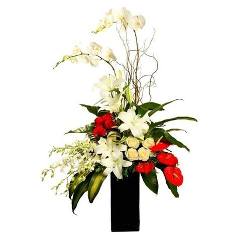 s day flower arrangements ideas florists white roses and vase on