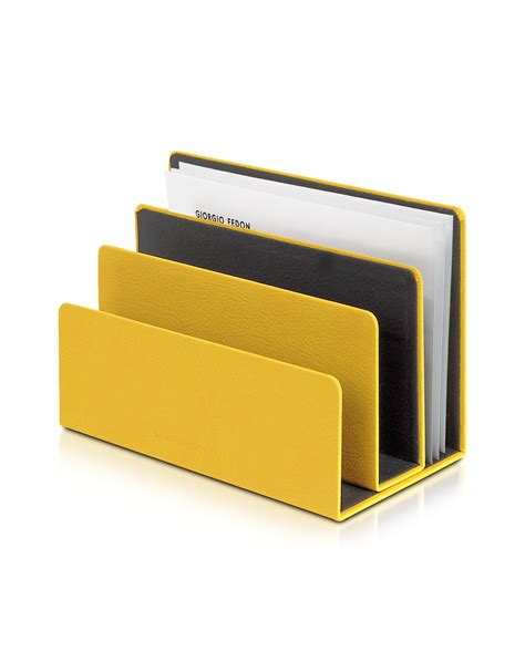 Letter Holders Desk by Giorgio Fedon Charme Yellow Desk Letter Holder In Yellow