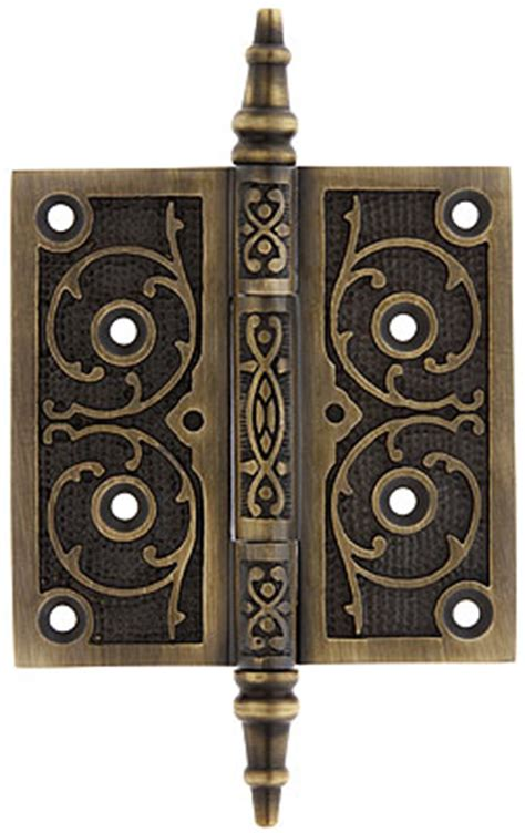 house of antique hardware 4 quot decorative vine pattern hinge in antique by hand finish house of antique hardware