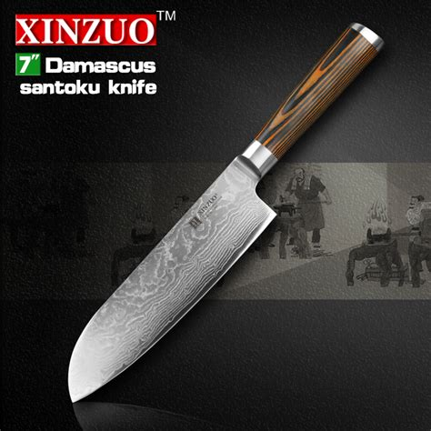 japanese damascus kitchen knives xinzuo 7 quot inch japanese chef knife damascus steel kitchen